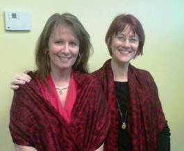 Tina in red scarf foster care to success